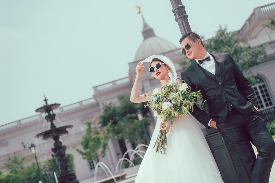 [台南自助婚紗] 飾品的搭配讓你的婚紗很不一樣/范特囍婚紗