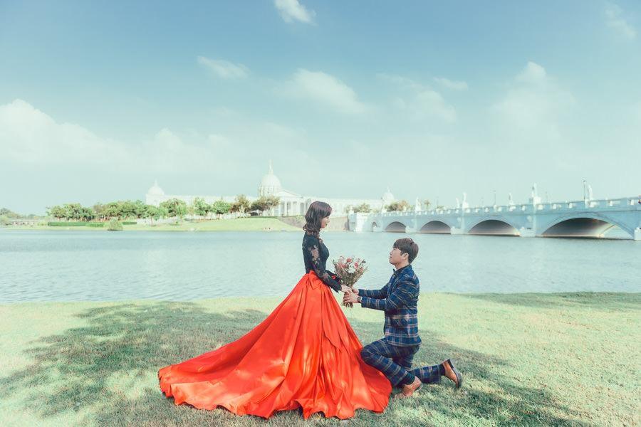 [台南自助婚紗] 專屬於你的浪漫仙氣婚紗/ 伊樂手工婚紗