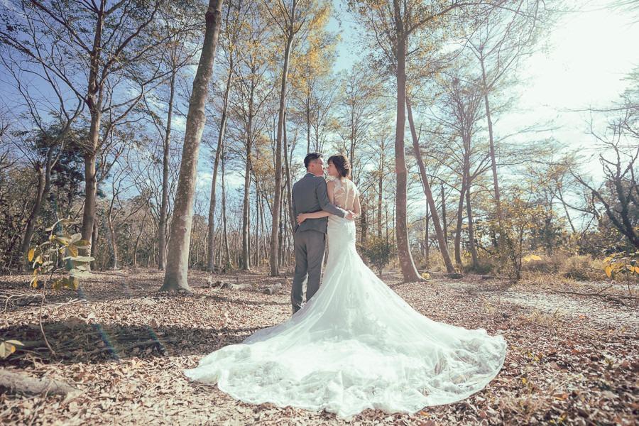 [台南自助婚紗]森林系少女般的夢幻畫面/范特囍手工婚紗